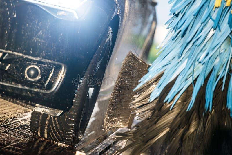 Túnel de lavado de la industria del automóvil imagen de archivo