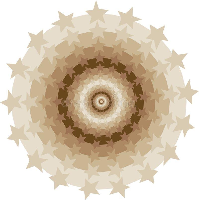 Túnel de los círculos de las estrellas stock de ilustración