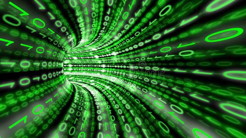 Túnel de los datos de Digitaces ilustración del vector