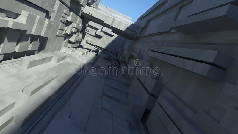 Túnel de Sci Fi imagen de archivo