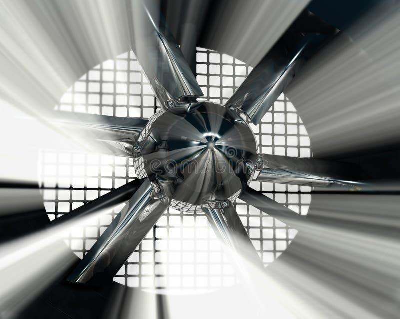 Túnel de vento para o teste do carro ilustração do vetor