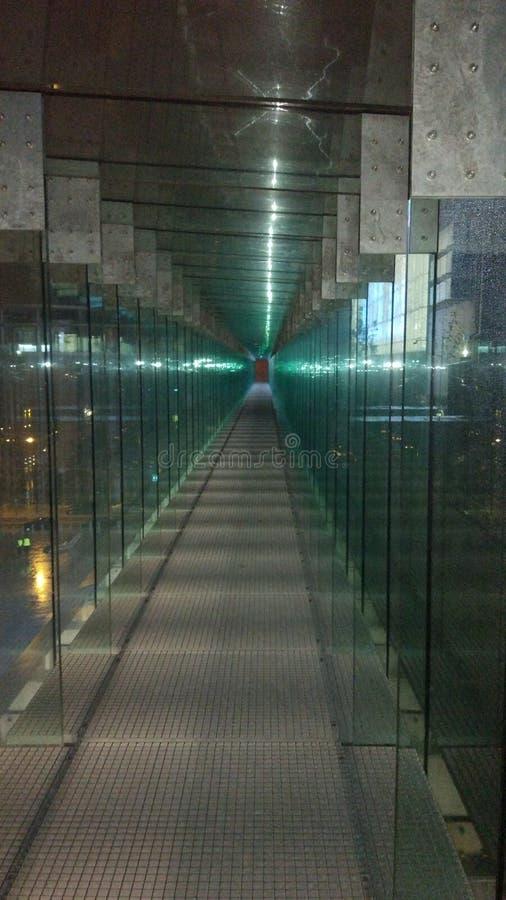 Túnel de vidro fotografia de stock