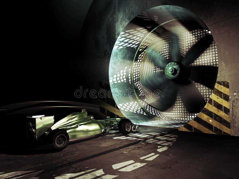 Túnel de viento del Fórmula 1 stock de ilustración