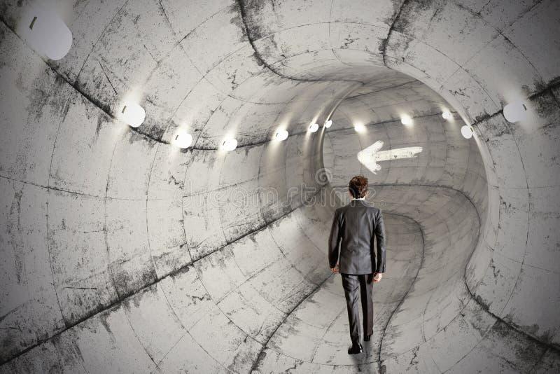 Túnel del negocio fotos de archivo