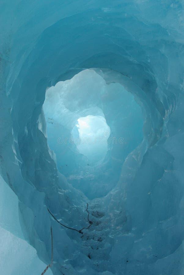 Túnel do gelo foto de stock