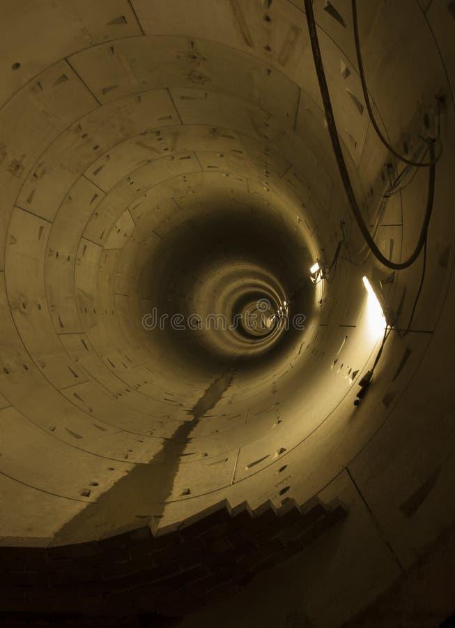 Túnel Do Metro Na Construção Imagens de Stock