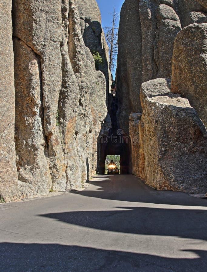 Túnel do olho das agulhas no parque de Custer State, South Dakota fotos de stock