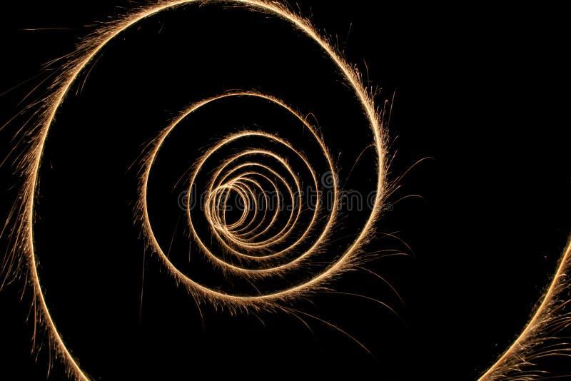 Túnel do Sparkler imagens de stock