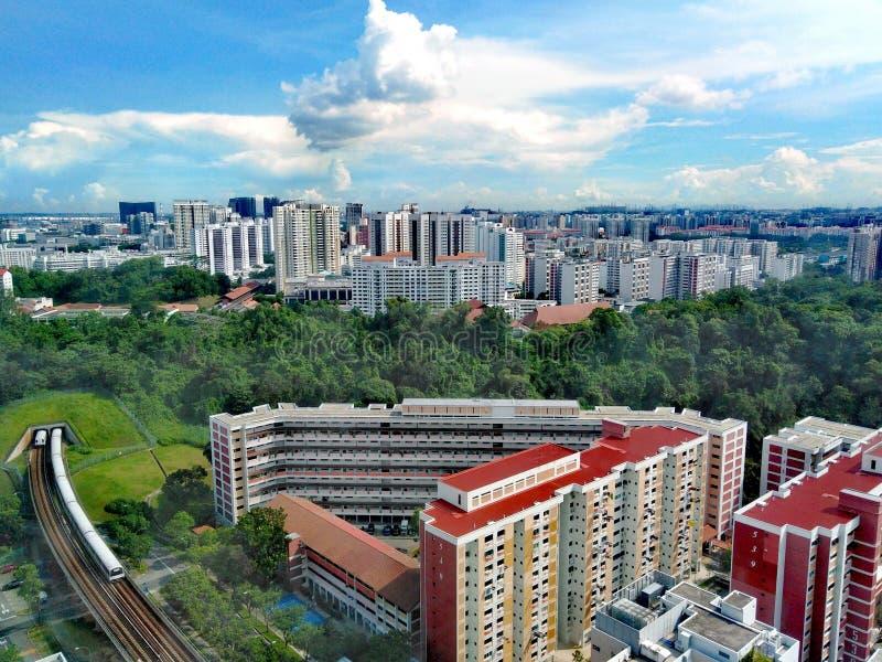 Túnel do trem do MRT entre Bukit Gombak e Bukit Batok foto de stock