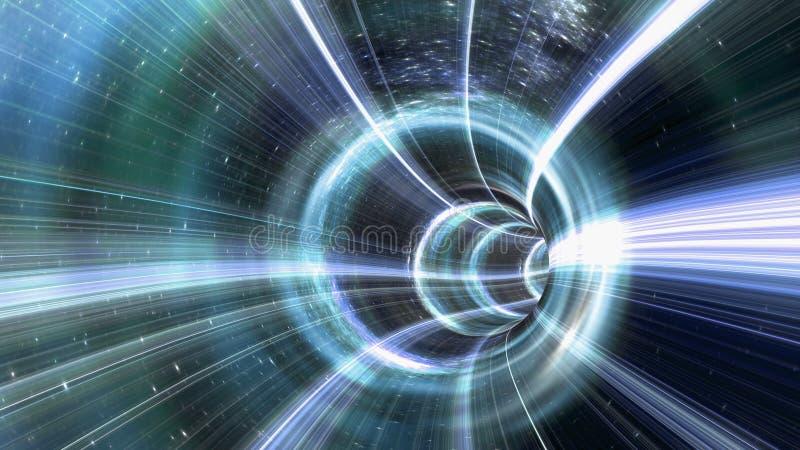 Túnel do Wormhole ilustração do vetor