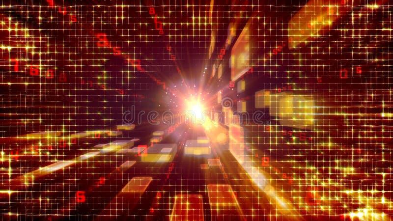 Túnel dos tijolos dourados crescentes ilustração stock