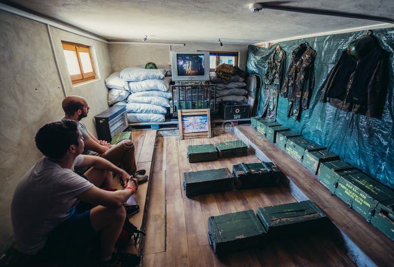 Túnel en Sarajevo fotos de archivo libres de regalías
