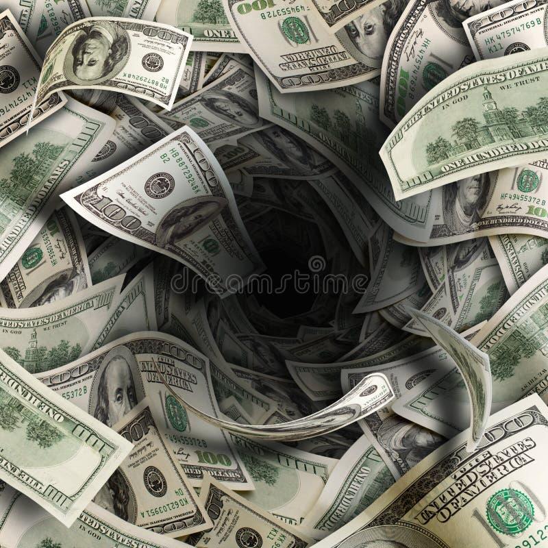 Túnel financiero foto de archivo libre de regalías