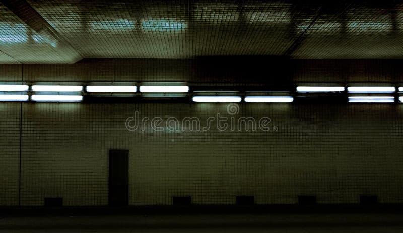 Túnel fluorescente fotografia de stock