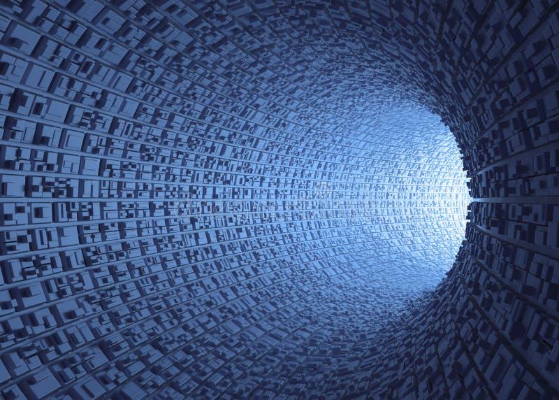 Túnel futurista imagen de archivo libre de regalías