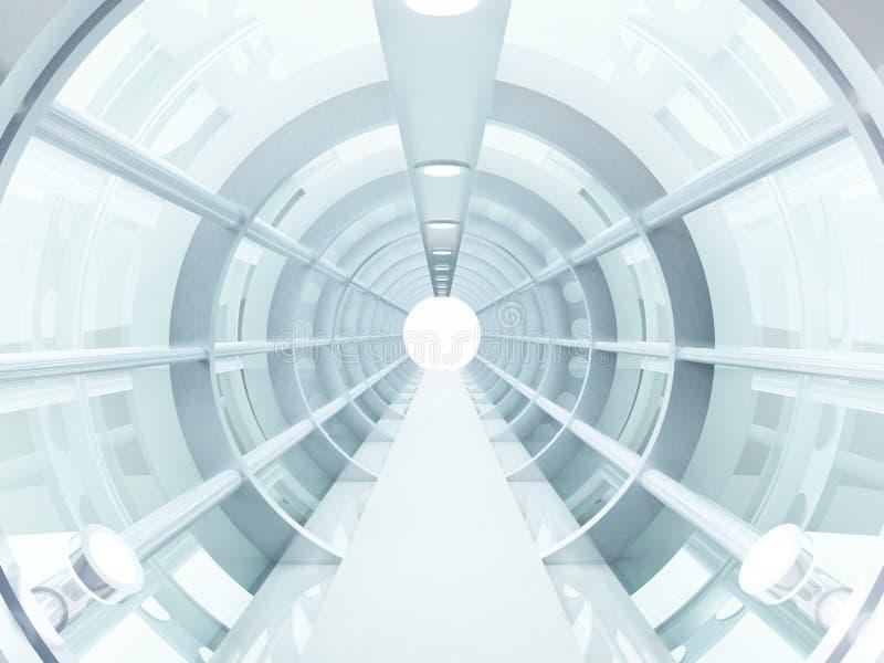 Túnel futurista ilustração stock