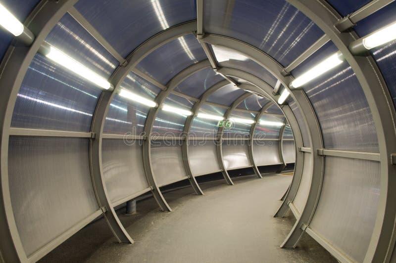 Túnel futurista fotos de stock