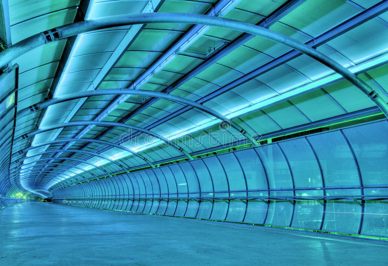 Túnel futurista fotos de stock royalty free