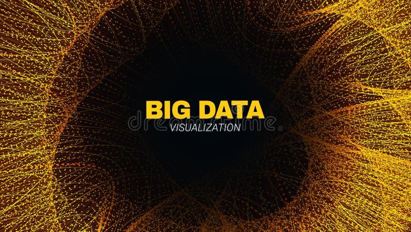 Túnel futurista abstracto, secuencia de datos grande libre illustration