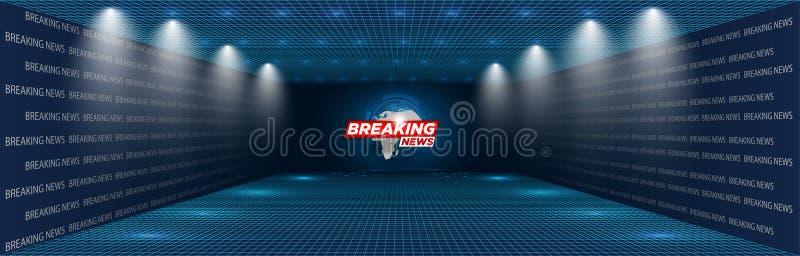 Túnel futurista de HUD Las pantallas de visualización del EJE para los títulos de la tecnología y el fondo, noticias ponen título ilustración del vector