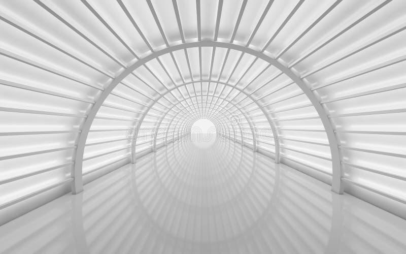 Túnel futurista, diseño interior Fondo futuro, negocio ilustración del vector