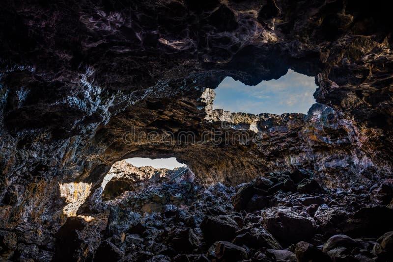 Túnel indio Lava Tubes Cave fotografía de archivo libre de regalías