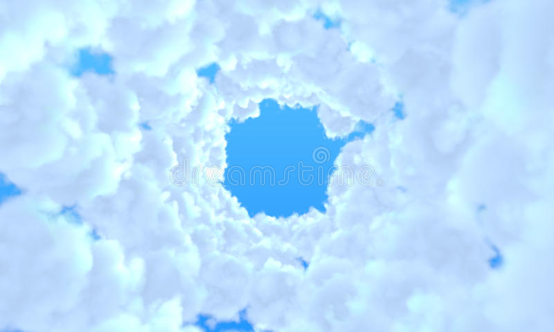 Túnel largo de nubes fotografía de archivo libre de regalías