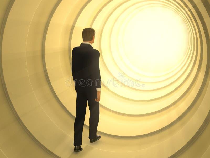 Túnel ligero ilustración del vector