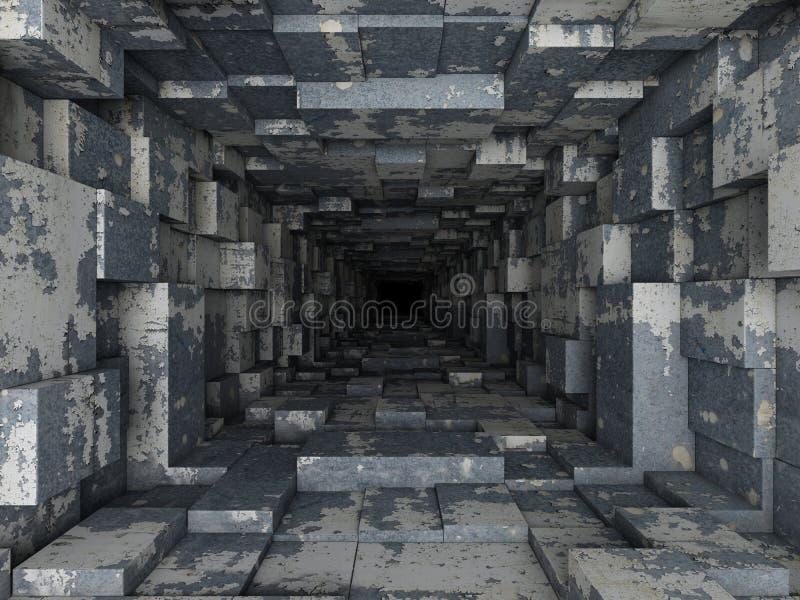 Túnel oscuro ilustración del vector