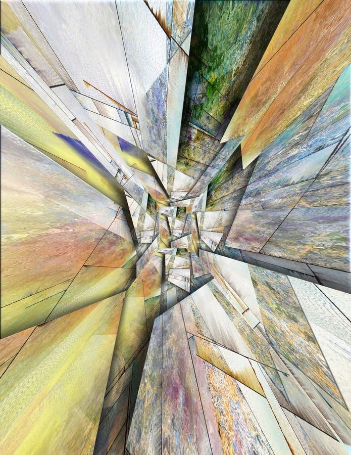 Túnel psicadélico ilustração do vetor