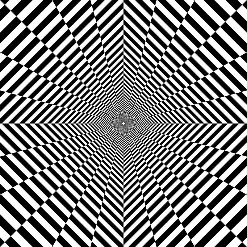 túnel psicodélico, rhombus, ilusión óptica imagen de archivo libre de regalías