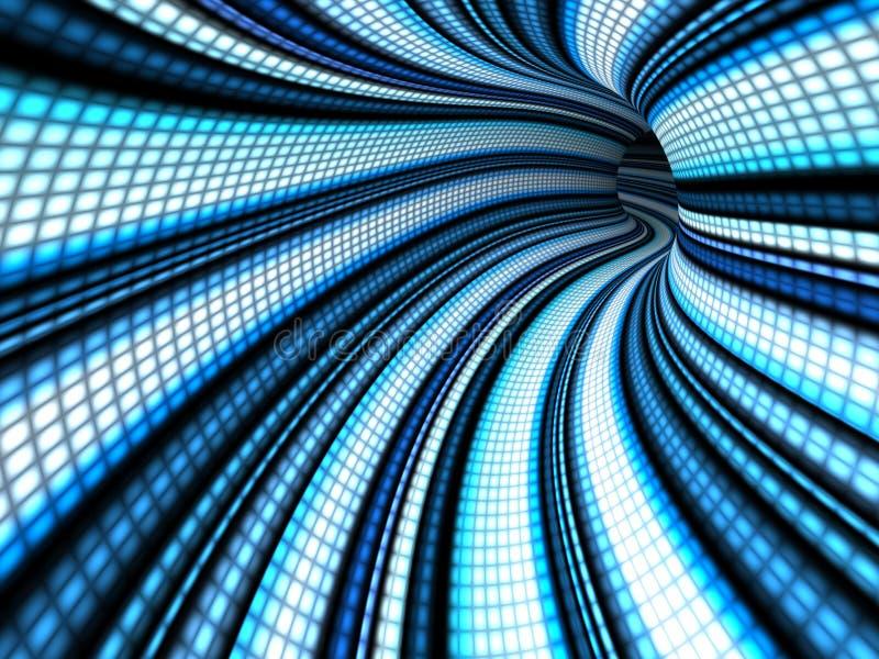 Túnel redondo abstracto stock de ilustración