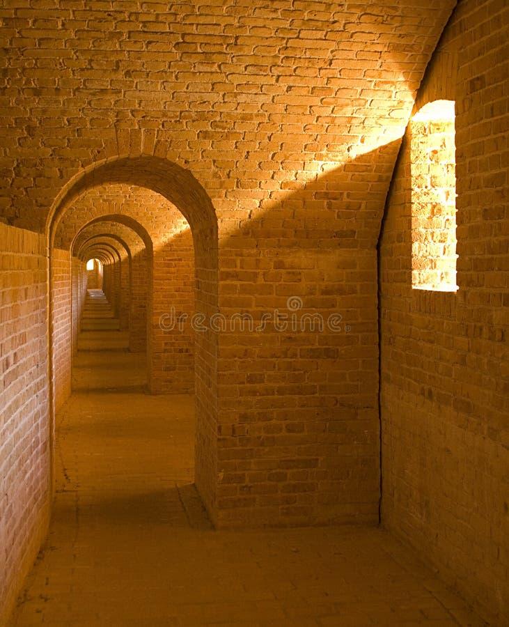 Túnel sin fin - escarpa en el pie Barrancas foto de archivo libre de regalías