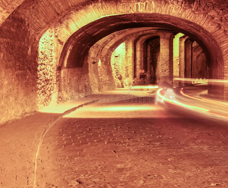 Túnel subterráneo en Guanaguato, México fotos de archivo