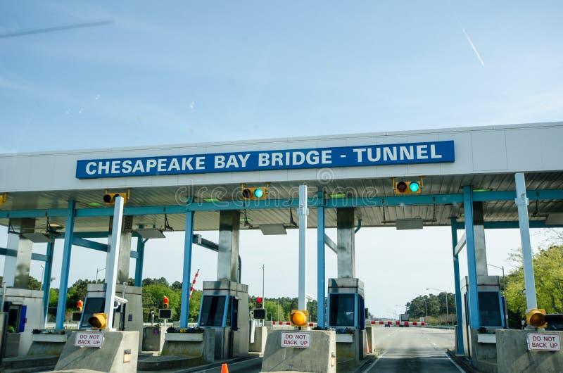 Túnel Toolbooth del puente de la bahía de Chesapeake fotografía de archivo libre de regalías