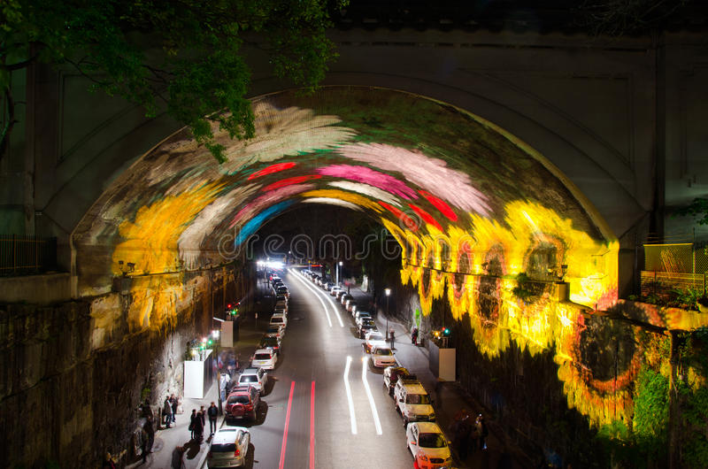 Túnel vívido de Sydney imagens de stock royalty free