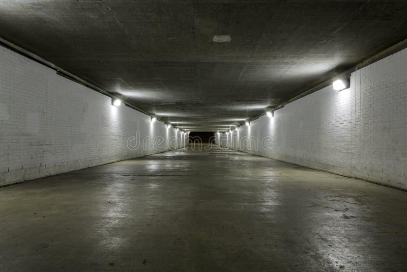 Túnel vazio foto de stock