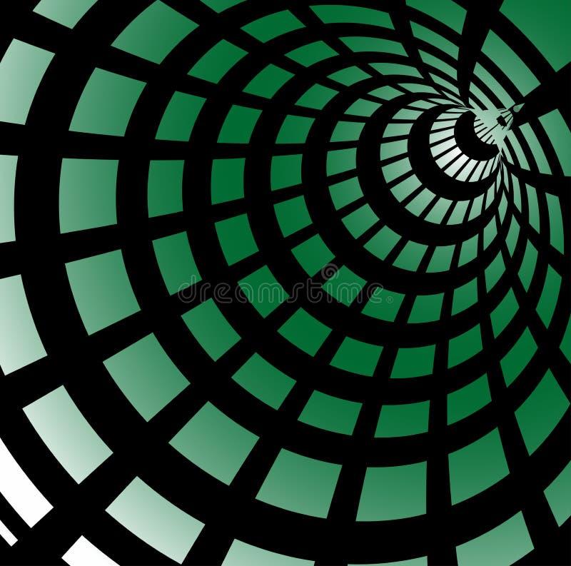 Túnel verde ilustração stock