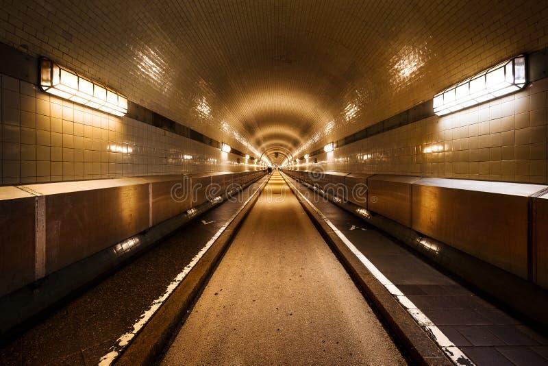 Túnel viejo Hamburgo Steinwerder de Elba imagen de archivo libre de regalías