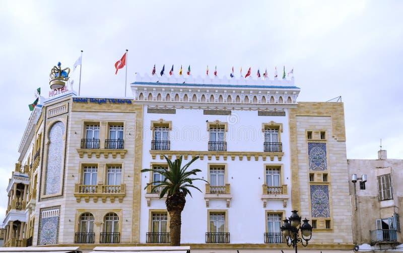 Túnez, Túnez 17 de septiembre de 2016 Hotel Victoria real en el centro del capital situado en la embajada británica anterior fotografía de archivo libre de regalías