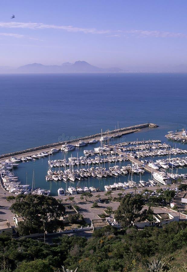 Túnez portuario foto de archivo libre de regalías
