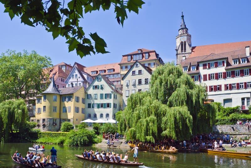 Tübinga, ville pittoresque en Allemagne images libres de droits