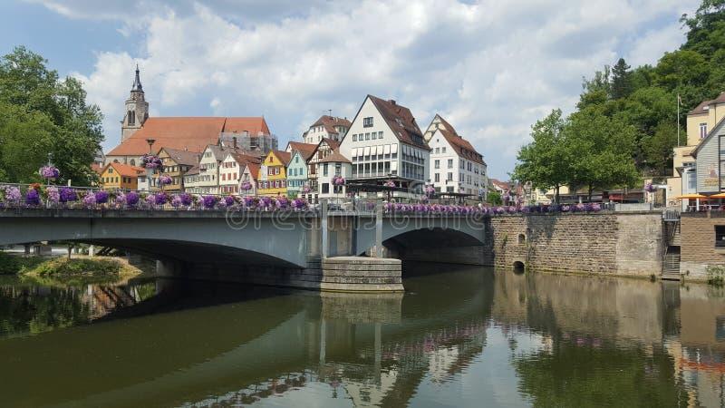 Tübingen am Neckar stock foto's