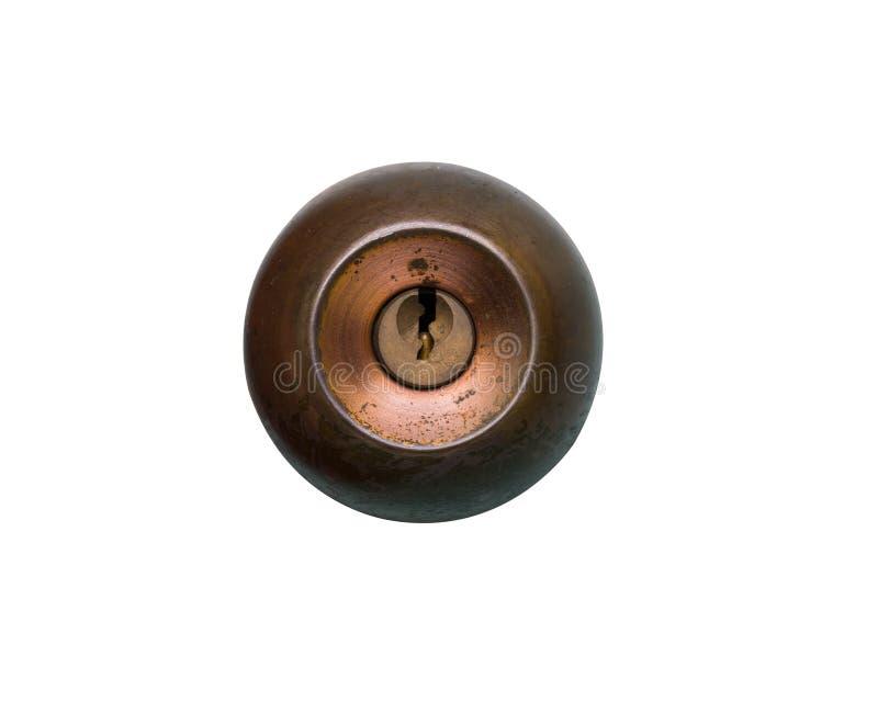 Tür-alter Griff für Türschloss lizenzfreie stockfotos