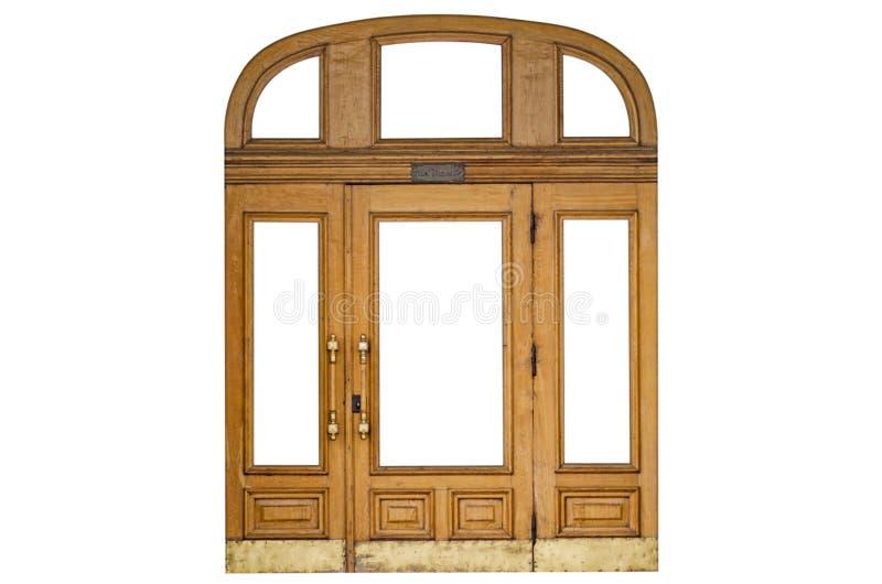 Tür auf einem weißen Hintergrund lizenzfreies stockfoto