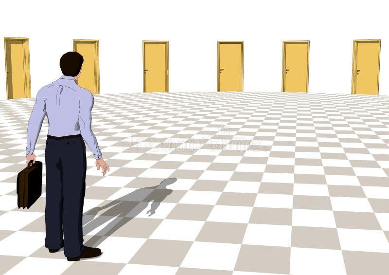 Tür der Gelegenheit vektor abbildung