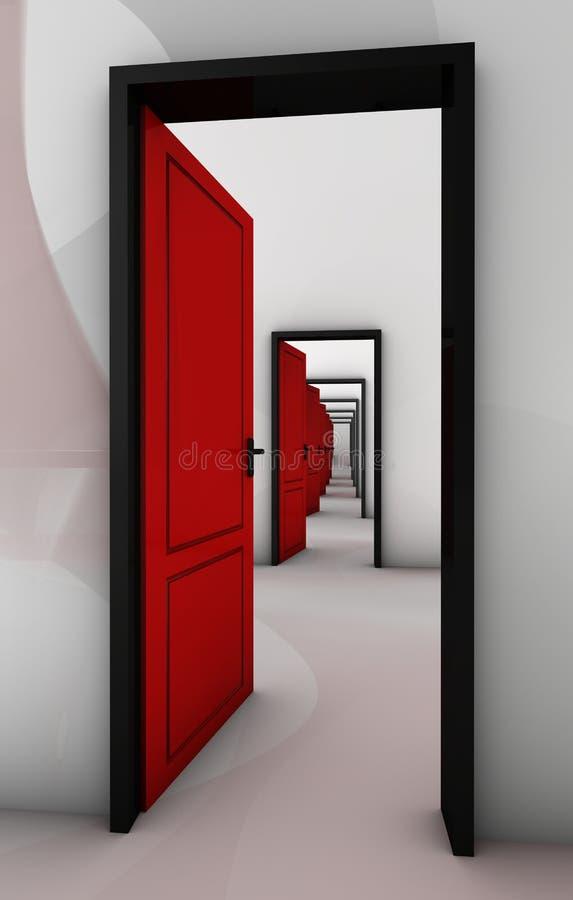 Tür in der Tür stock abbildung