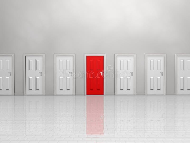 Tür drei vektor abbildung