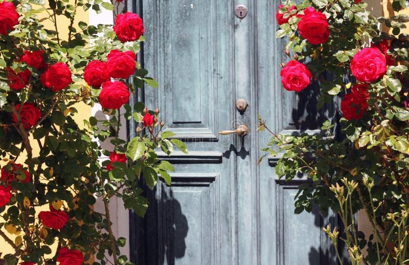 Tür in einem Garten lizenzfreies stockfoto