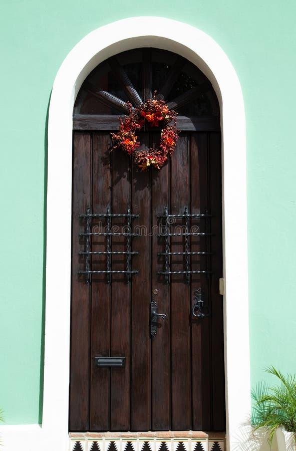 Tür eines Hauses in altem San Juan stockfotos